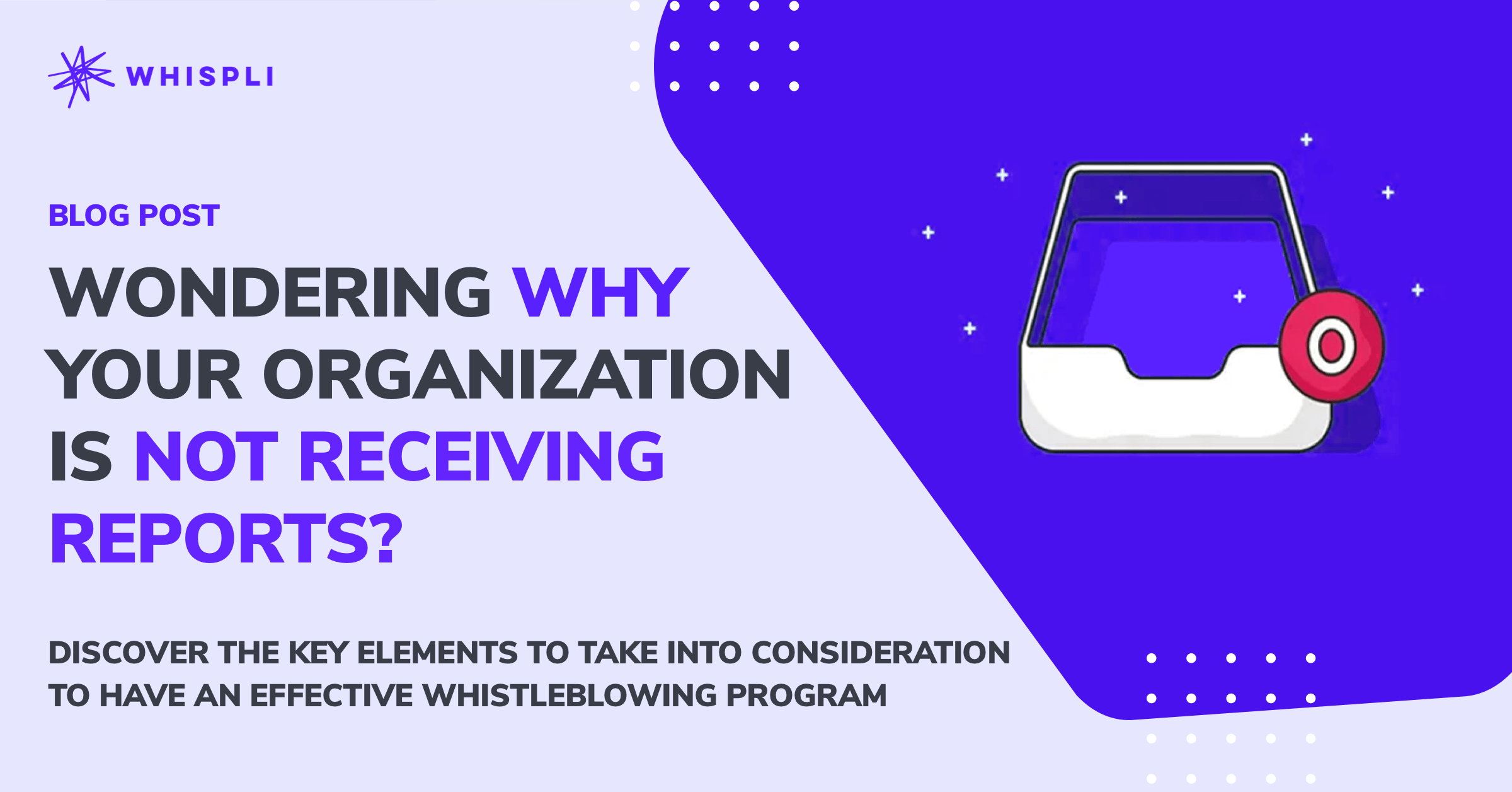 Wondering why your organization is not receiving reports?