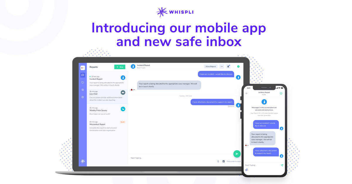 Introducing the Whispli App & new Safe Inbox